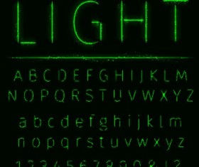 Green light number with alphabet vector