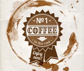 Grunge coffee labels vintage vector set 10