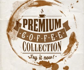 Grunge coffee labels vintage vector set 11