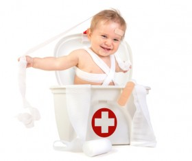 HD picture Cute baby with medicine box 02