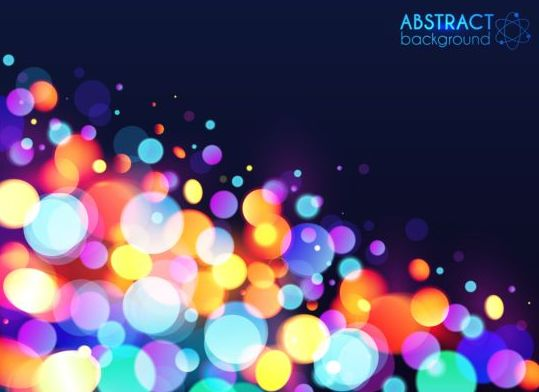 Halation colorful bokeh effect background vector 02