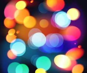 Halation colorful bokeh effect background vector 06