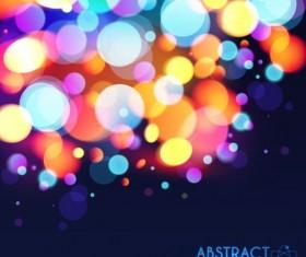 Halation colorful bokeh effect background vector 09