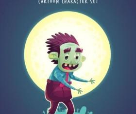 Halloween artoom character funny vector 03