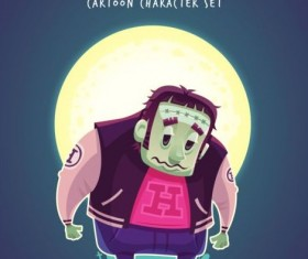 Halloween artoom character funny vector 04