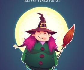 Halloween artoom character funny vector 06