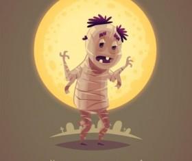 Halloween artoom character funny vector 07