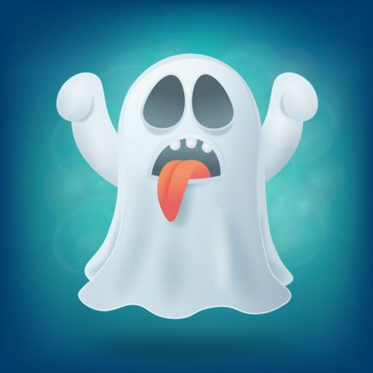 Halloween ghost design vector material 07
