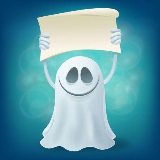 Halloween ghost design vector material 11