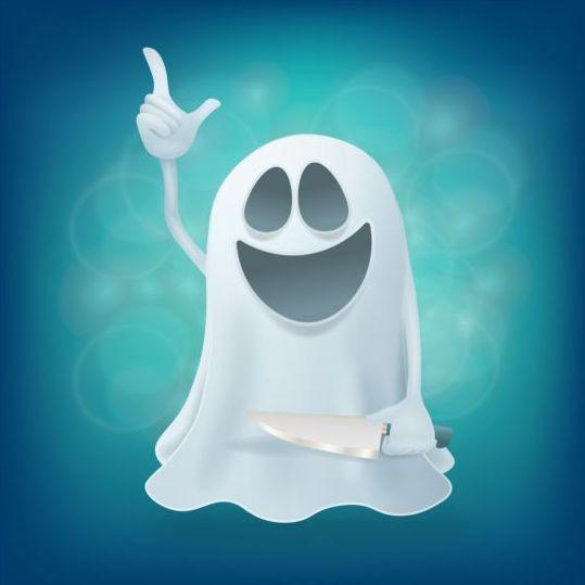 Halloween ghost design vector material 12