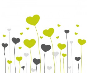 Heart grass valentine illustration vector 02