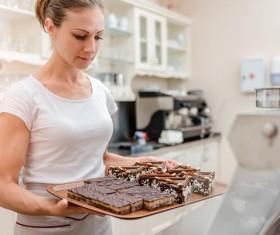 Homemade delicious chocolate cake Stock Photo