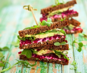 Induce appetite delicious sandwich cake Stock Photo