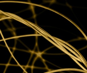 Intertwined gold lines and a black background 06