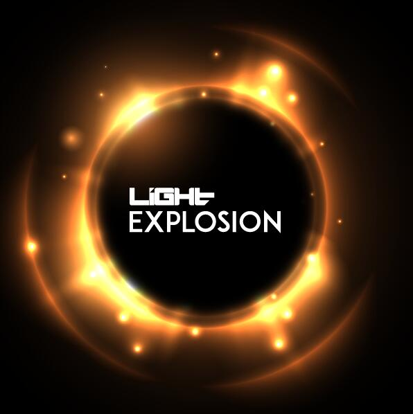Light explosion effect background vector 01