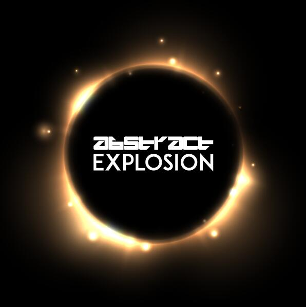 Light explosion effect background vector 02