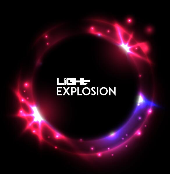 Light explosion effect background vector 05