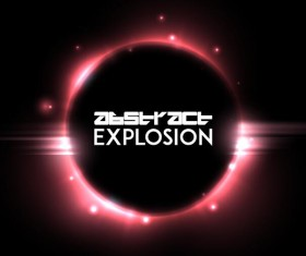 Light explosion effect background vector 09