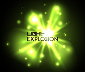 Light explosion effect background vector 12