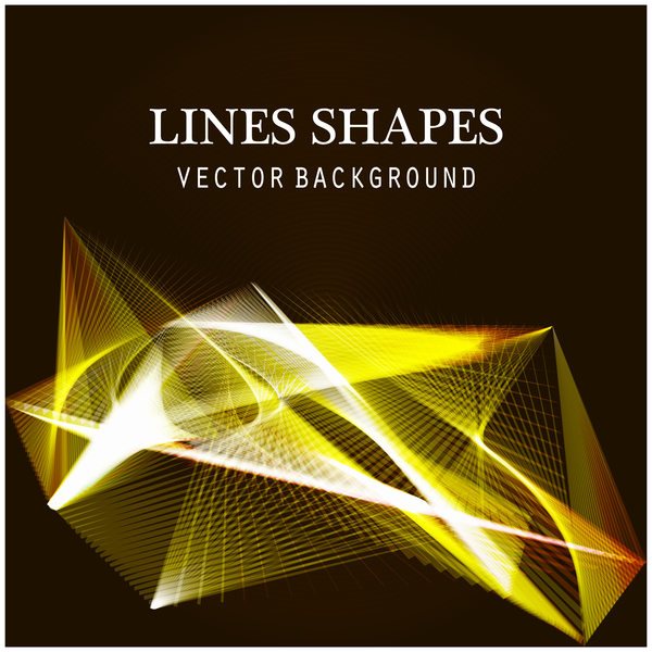 Light lines shapes shiny background vector 09