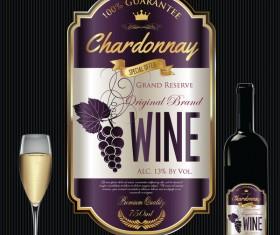Luxury golden wine label design vector 01