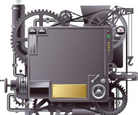 Machine with gears vector