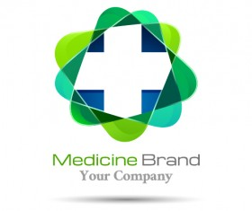 Medicine brand logo design vector