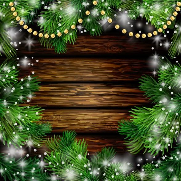 merry christmas greeting card with wood background vector 13 free download