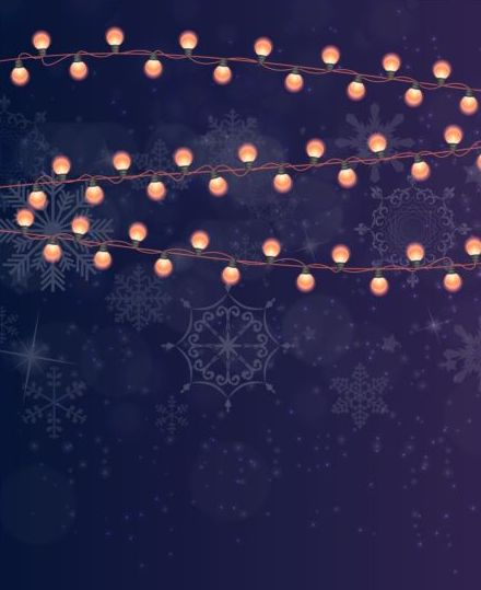 Merry christmas with new year dark background vector 03