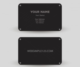Metal business card template vector 01