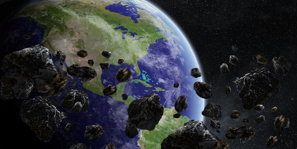 Meteorite space in the earth planet 01