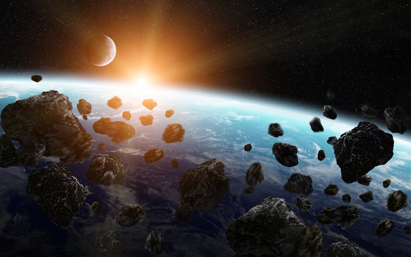 Meteorite space in the earth planet 02