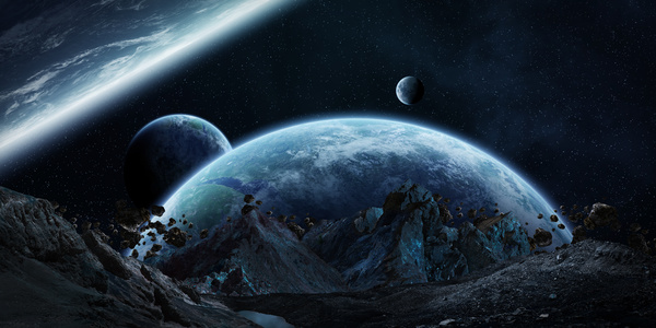 Meteorite space in the earth planet 04