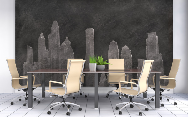Mountain backdrop walls and meeting room HD picture