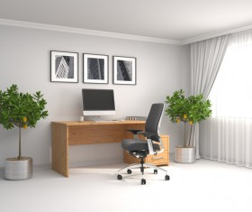 Office HD picture in white 01