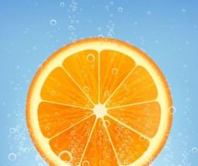 Orange juice lime vector background