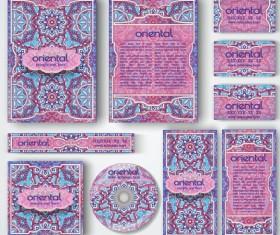 Oriental styles corporate identity kit vector 09