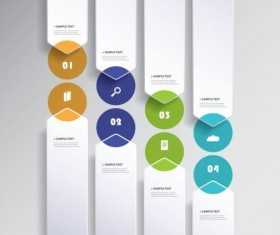 Paper tapes infographic vector 01