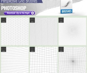 Perspective Grid Photoshop Brushes