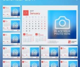 Photo disk calendar 2017 vector set 11