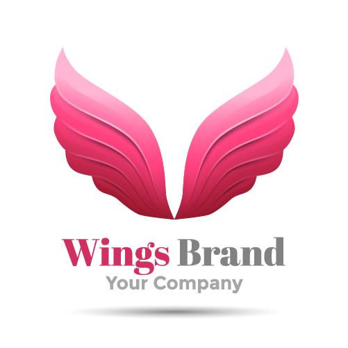 Pind wings brand logo design vector - Vector Logo free download