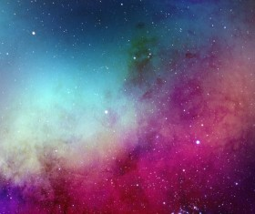 Pink and Cyan Space Watercolor Backgrounds HD picture