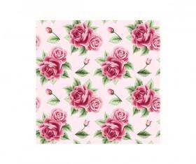 Pink flowers seamless pattern vectors