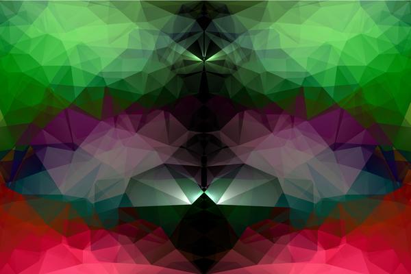Polygon geometric shining vector background 02