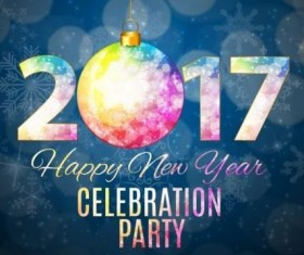 Poster party 2017 new year with christmas vector