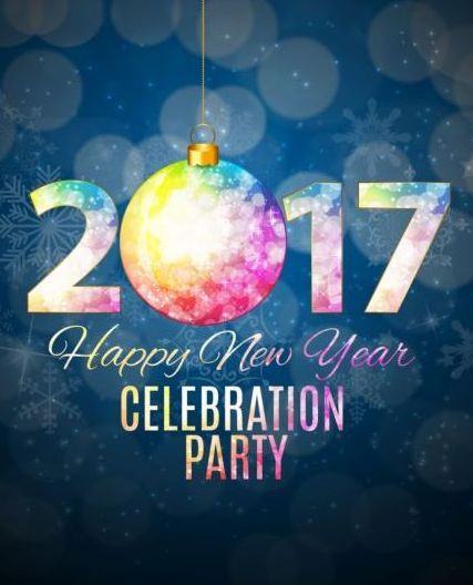 ... 2017 new year with christmas vector - Vector Christmas free download