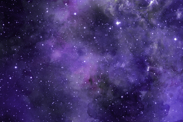 Purple Space Watercolor Backgrounds HD picture