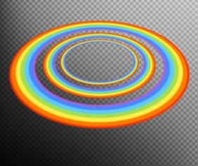 Rainbows circle illustration vector 02