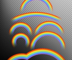 Rainbows effect illustration vector 01