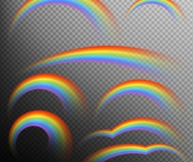 Rainbows effect illustration vector 02
